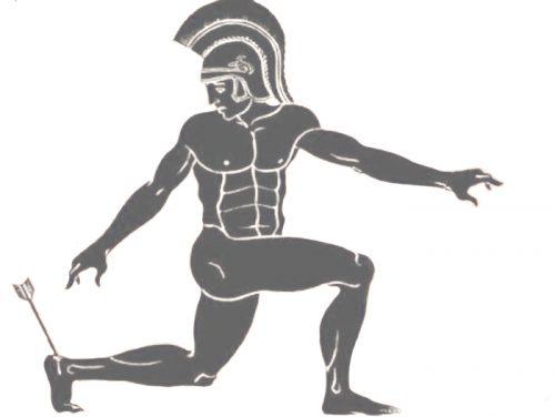 Achilles, strzała, mitologia, ścięgno Achillesa, zatruta strzała, Achilles tendon, calcaneal tendon, poison arrow